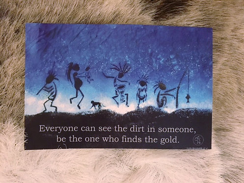 "Postkarte ""find gold"""