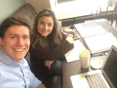 Proofreading the book with Cristina from Colombia