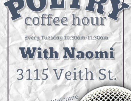 Veith House Poetry Coffee Hour