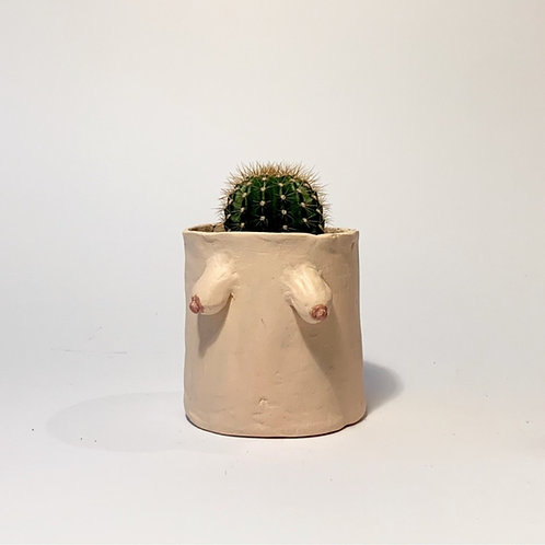 Arty Handmade Boob Pot- Beige Skin