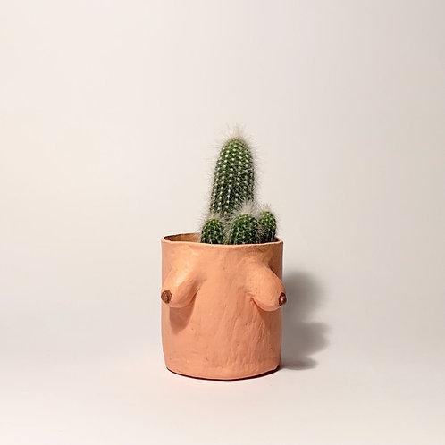 Arty Handmade Boob Pot- Olive Skin