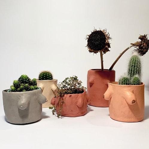 Arty Handmade Boob Pot