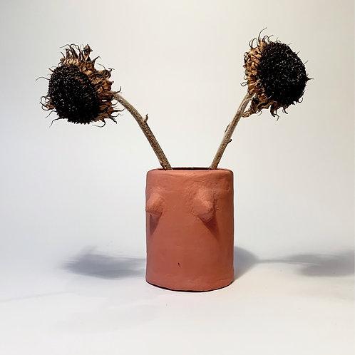 Arty Handmade Boob Pot& Vase- Terracotta