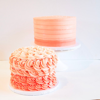 Peach Ombre Smash Cake