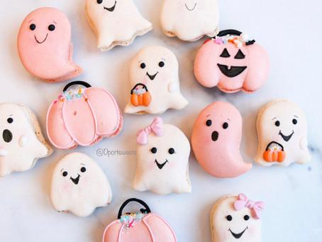 Halloween themed macaron template