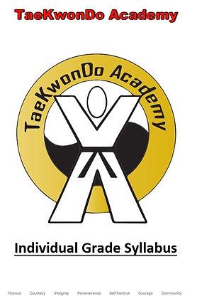TaeKwonDo Academy Syllabus (Individual Rank)