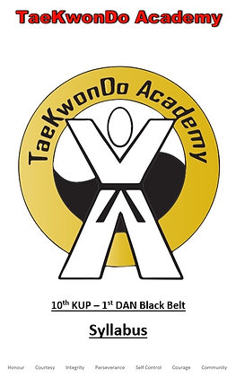 TaeKwonDo Academy Syllabus (White - Black Belt)