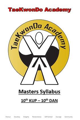 TaeKwonDo Academy Masters Syllabus