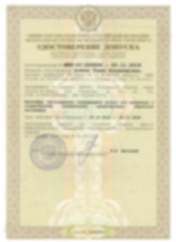 лицензия на международний допуск на 5 ле