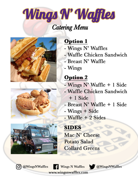 Wings N' Waffles ...On Wheels! Catering Menu