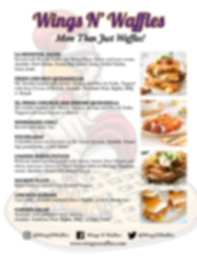 "Wings N' Waffles ...On Wheels! ""More Than Just Waffles"" Catering Menu"