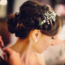 Brides wedding hair up by Miss D.