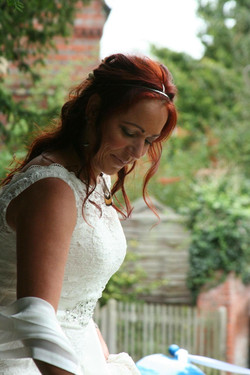Beautiful Bridal hair down.