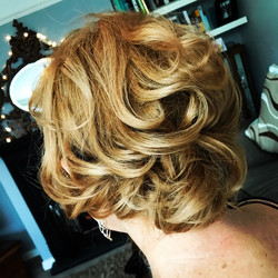 Beautiful bridal curls.