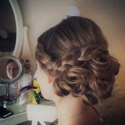Bridal mega braids.