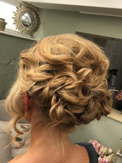 Braids and curls for brides