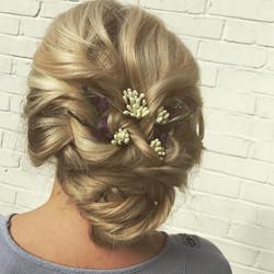 Wedding Hair with flower accessories