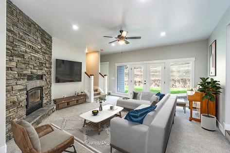 Cozy Sunken Living Room