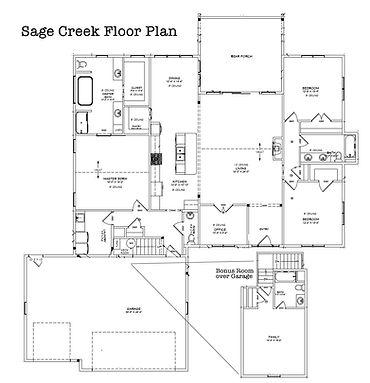 Custom Home Floorplan Rancher with Bonus