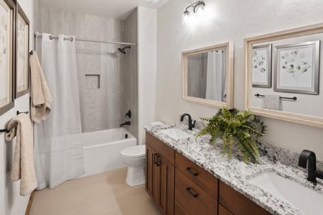 Leathered Granite Bathroom