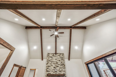 Post and Beam Vaulted Ceiling