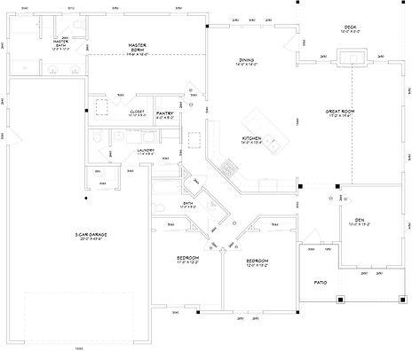 Single Level Floorplan Custom