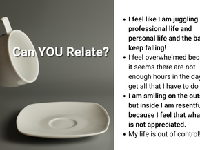 You Can't Pour from an Empty Cup - PAUSE | REEVALUATE | RESUME