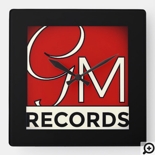 GMR Label Wall Clock