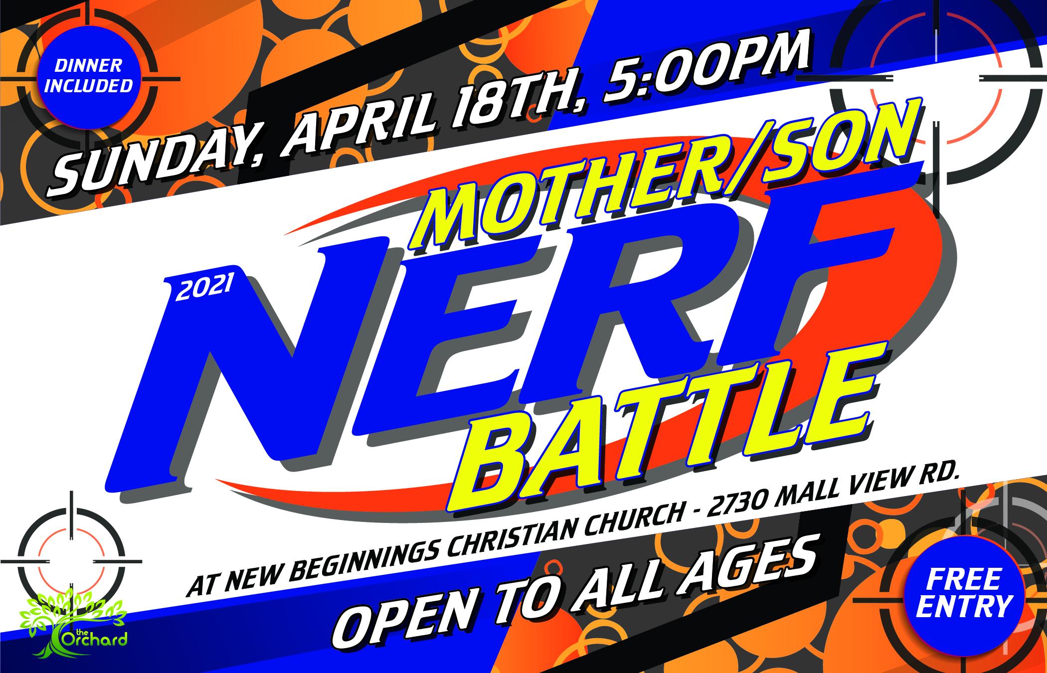 Mother Son Nerf Battle-01