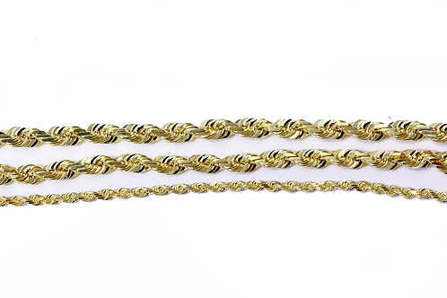 10 KT YELLOW GOLD ROPE CHAINS