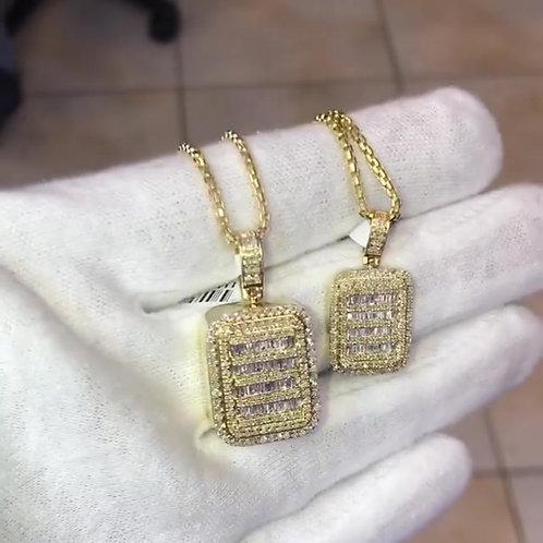 BAGUETTE DIAMONDS PENDANT