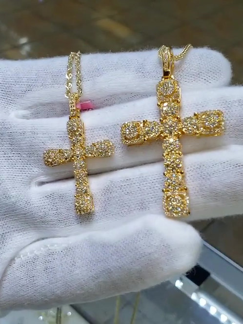 10 KT ICED OUT CROSSES