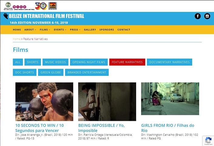 FILHAS DO RIO - BELIZE FILM FESTIVAL