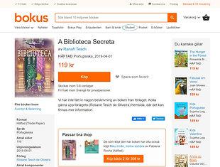 eBook A Biblioteca Secreta - venda internacional - Estocolmo - Suécia