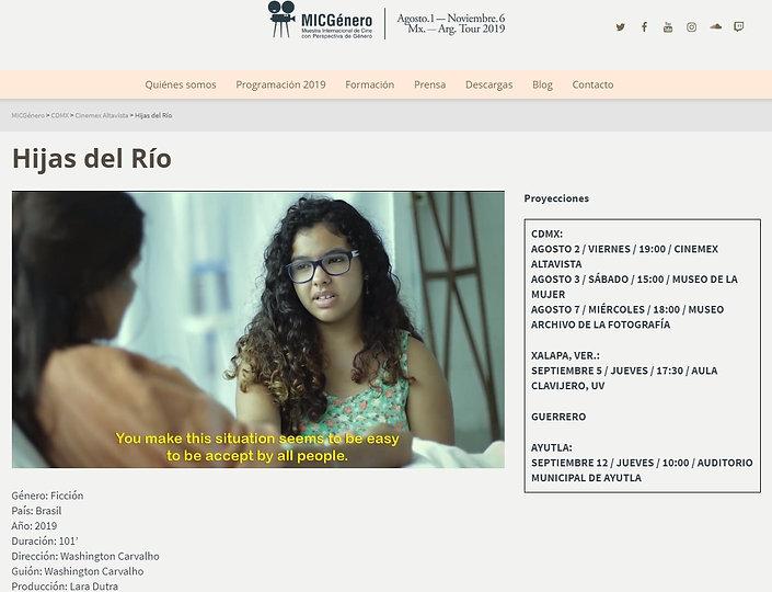 """MICGénero - Filme brasileiro """"Filhas do Rio"""""""