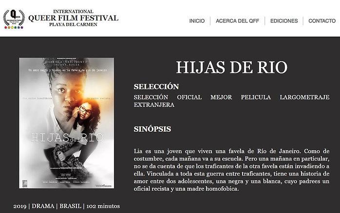 """QUEER FILM FESTIVAL - Filme brasileiro """"Filhas do Rio"""""""