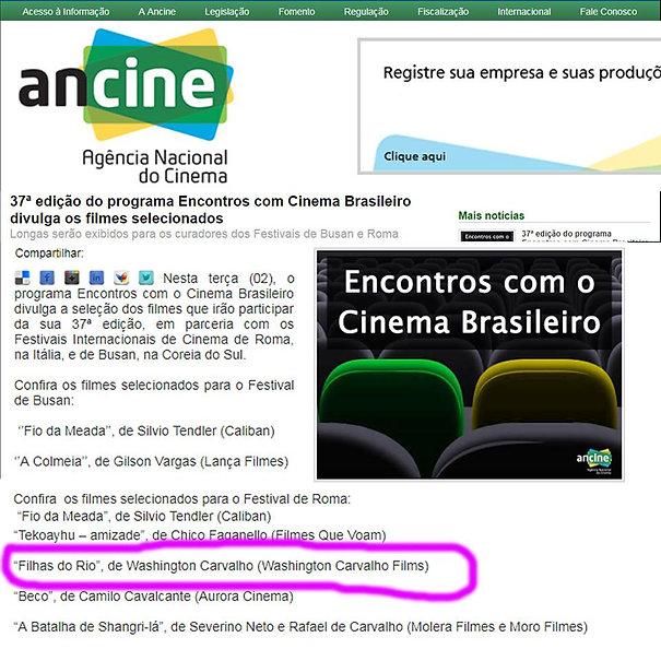 37º Encontros com Cinema Brasileiro - Ancine