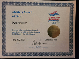 Even better swim coaching: now certified with US Masters
