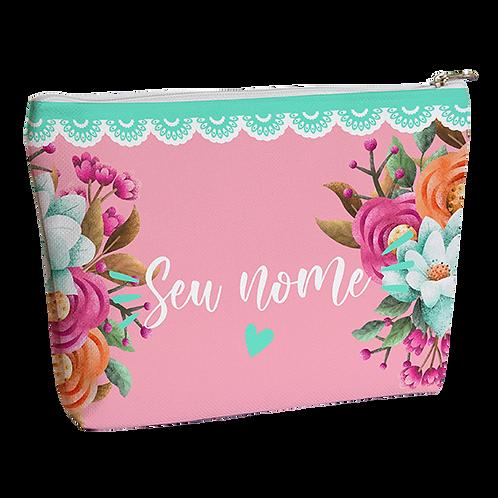 Necessaire - Flores & Cores - Personalizada