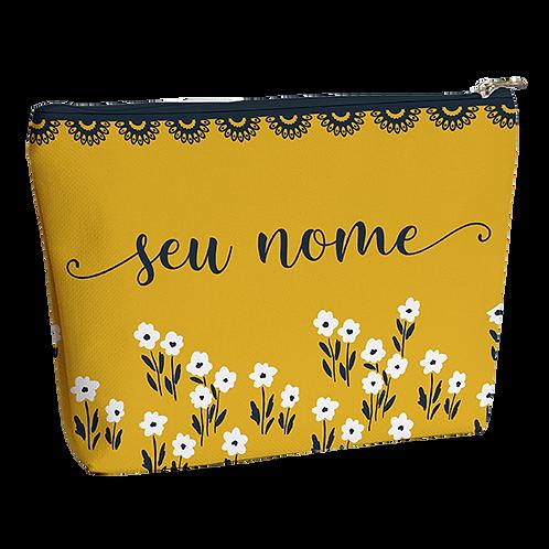 Necessaire - Flor Mostarda - Personalizada