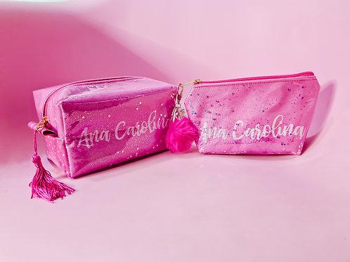 Kit de Estojo + Necessaire - Glitter Personalizado