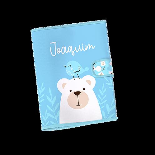 Caderneta Vacinação - Urso Azul
