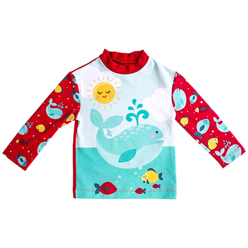 Camisa UV50+Baleia