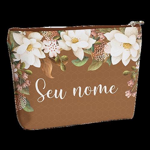 Necessaire - Flor de Chocolate - Personalizada