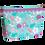 Thumbnail: Necessaire - Turquesa Floral - Personalizada