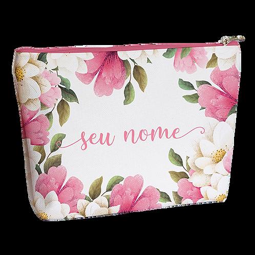 Necessaire - Floral Rose - Personalizada