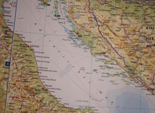 Karte Adria