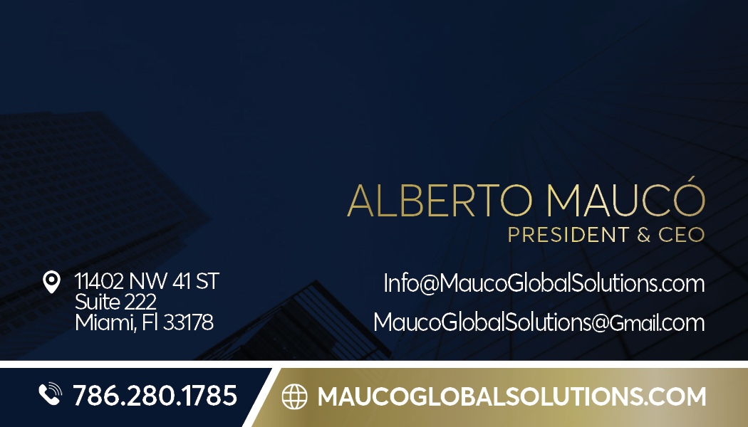CLIENT: MAUCO GLOBAL SOLUTIONSrd