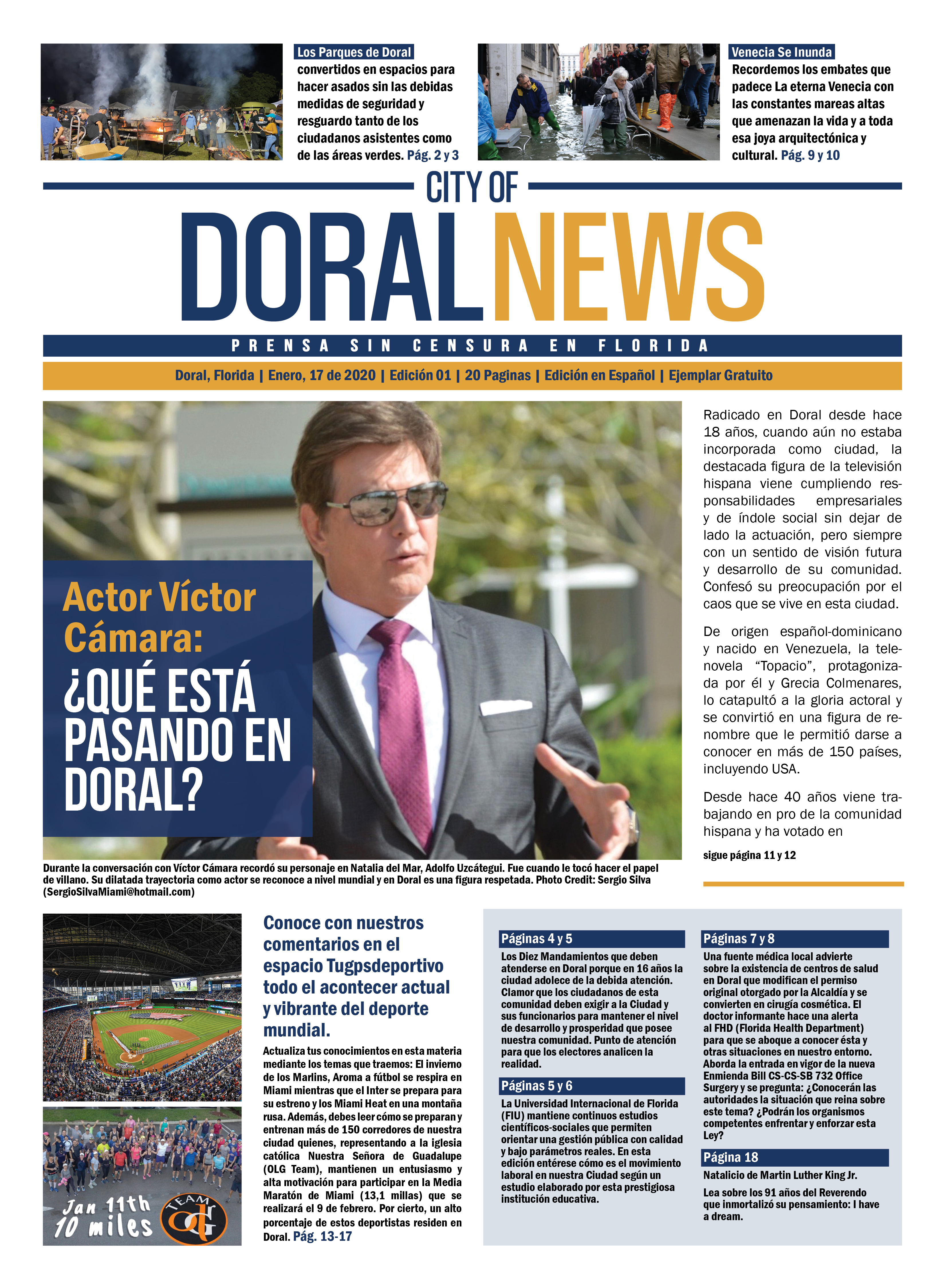 City of Doral News Edition 1 pg1