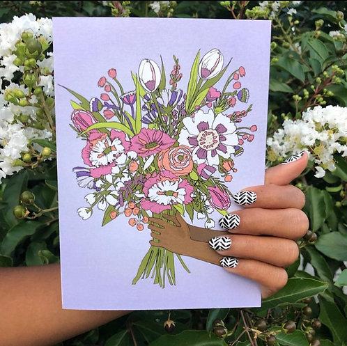 Confident Card - Flowers